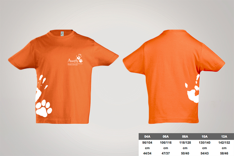 t-shirt-enfants-orange